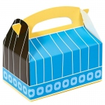 Blue, Black and Yellow Empty Favor Boxes (8): Multi-colored, Birthday
