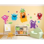 BuySeasons Monsters Giant Wall Decal