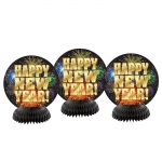 BuySeasons Happy New Year 2017 Honeycomb Decor