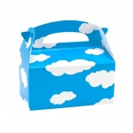 Clouds Empty Favor Boxes (8): Blue, Birthday