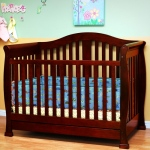 AFG Spring 3-in-1 Convertible Crib: Cherry