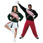 BuySeasons Adult SNL Spartan Cheerleaders Couples Costume