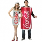 BuySeasons Coke & Diet Coke Couples Costume For Adults One-Size