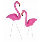 "BuySeasons 25"" Flamingo Lawn Decoration (Set of 2)"