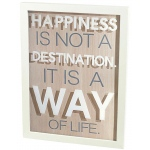 "BuySeasons ""Happiness"" Plaque Hanging Decor"