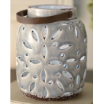 BuySeasons Gilded Gray Light-Up Lantern