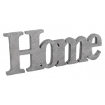 """Home"" Plaque: Silver, Everyday, Unisex"