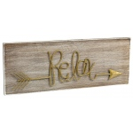 "BuySeasons ""Relax"" Plaque Hanging Decor"