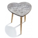 """Bright Side of Life"" Accent Table: Gray, Everyday, Unisex"
