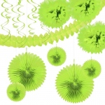 R & T Creations Lime Green Festive Decoration Kit Green