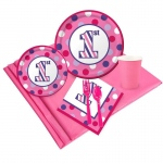 BuySeasons 1st Birthday Girl Sweet Stripes Party Pack for 24
