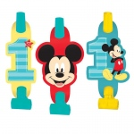 Amscan Disney Mickey Mouse 1st Birthday Blowouts (8)