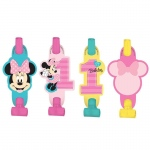 Amscan Disney Minnie Mouse 1st Birthday Blowouts (8)