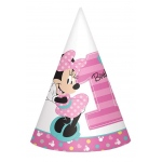 Disney Minnie Mouse 1st Birthday Cone Hats (8): Birthday