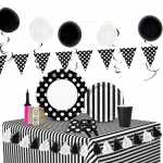 BuySeasons Black & White Ultimate Experience Party Pack for 48