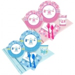 BuySeasons Baby Shower Boy or Girl - Shower with Love Party Pack (16)