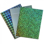 Hygloss Holographic Poster Board: Plaid Silver