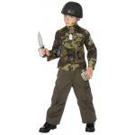 Army Ranger Child Costume Kit: Brown/Green, One Size, Everyday, Male, Child