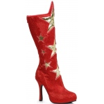 Women's Red Superhero Star Boots: Red, 7, Everyday, Female, Adult