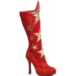 Women's Red Superhero Star Boots: Red, 9, Everyday, Female, Adult