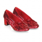 Judy (Red Sequin) Child Shoes - X- Large (4/4.5)