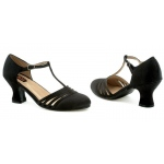 Lucille (Black) Adult Shoes: Black, 6, Everyday, Female, Adult