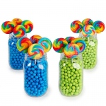 BuySeasons Blue & Lime Green Mason Jar Candy Décor Kit