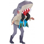 Big Animal Head Costume-Shark with Legs Adult: One-Size, Everyday