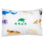 Wildkin Olive Kids Endangered Animals 100% Cotton Pillowcase