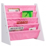 Wildkin Levels of Discovery Sling Book Shelf - White w/ Pink