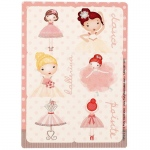 Ballerina Tutu Sticker Sheets (4): Birthday