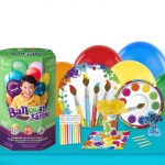 BuySeasons Art Party 16 Guest Kit with Tableware and Helium Kit