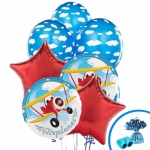 BuySeasons Airplane Adventure Balloon Bouquet