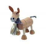 5pk Wooden Donkeys 14097