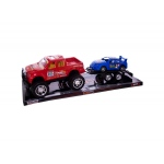 Friction Truck And Trailer With Race Car Set