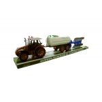 Friction Farm Tractor Truck & Double Trailer Set: assorted colors,assorted styles