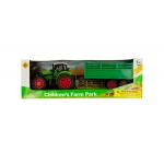 Friction Powered Farm Tractor Toy Set: assorted colors