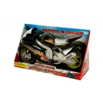 Friction Powered Toy Motorcycle With Sound & Light: assorted colors