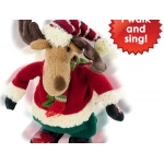 Singing & Walking Holiday Plush Moose Doll