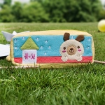 Blancho  Embroidered Applique Pencil Pouch Bag / Cosmetic Bag  - Dog's Home