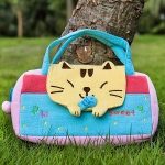 Blancho  Embroidered Applique Kids Mini Handbag / Cosmetic Bag  - Sweet Cat