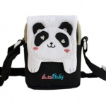 Blancho  Embroidered Applique Swingpack Bag Purse / Wallet Bag  - White Panda