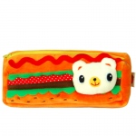 Blancho  Embroidered Applique Pencil Pouch Bag / Pencil Holder  - Hamburger
