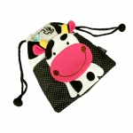Blancho  Embroidered Applique Kids HangBag / Drawstring Bag  - Little Cow
