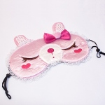 Blancho  Embroidered Applique Eye Shade / Sleeping Mask Cover  - Pink Temptation