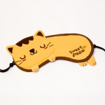 Blancho  Animal Eye Shade / Sleeping Mask Cover  - Sweet Dream - Yellow Kitty