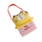 Blancho  Embroidered Applique Mini Swingpack Bag Purse / Wallet Bag  - Pretty Cat