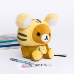 Blancho  Plush Gadget Storage Box / Trinket Box  - Rilakkuma - Chocolate