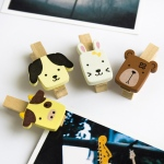 Blancho  - Wooden Clips / Wooden Clamps  - Cute Animals-1