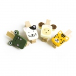 Blancho  - Wooden Clips / Wooden Clamps  - Cute Animals-2